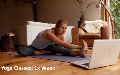 Yoga Classes: September 2021: 1x Week
